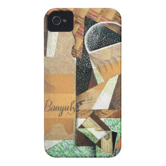 The Bottle of Banyuls, 1914 (gouache & collage) Case-Mate iPhone 4 Cases