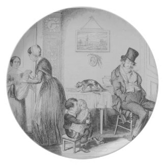 The Bottle, Plate II, He is discharged from his em