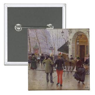 The Boulevard des Capucines 15 Cm Square Badge