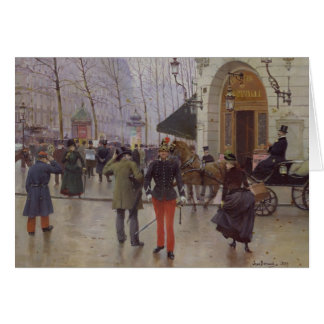 The Boulevard des Capucines Greeting Card