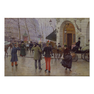 The Boulevard des Capucines Poster