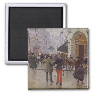 The Boulevard des Capucines Square Magnet