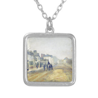 The Boulevard Heloise in Argenteuil by Claude Mone Square Pendant Necklace