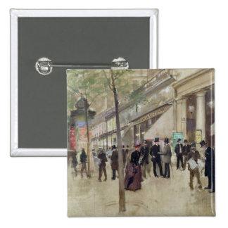 The Boulevard Montmartre 15 Cm Square Badge