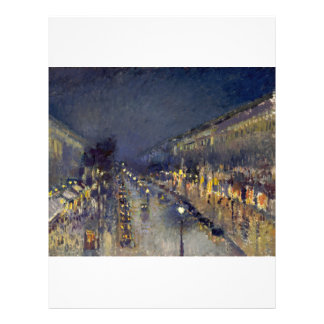 The Boulevard Montmartre at Night 21.5 Cm X 28 Cm Flyer