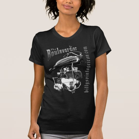 The Boulevardier B & W womens T-Shirt