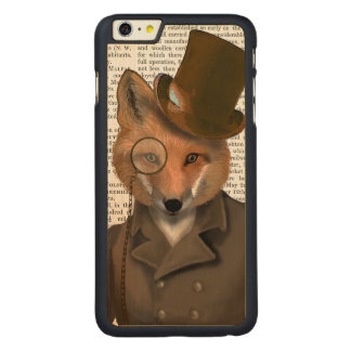 The Bounder Fox Print Carved Maple iPhone 6 Plus Case