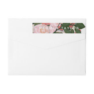 The Bouquet / Wrap Return Address Wrap Around Label