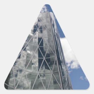 The Bow in Calgary Alberta Canada Triangle Sticker