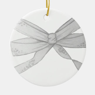 The Bow Round Ceramic Decoration