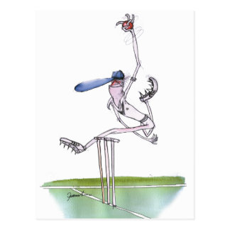 the bowler - cricket, tony fernandes postcard