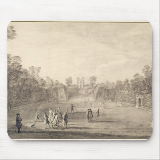 The Bowling Green at Claremont, 1738 (engraving) Mouse Mat