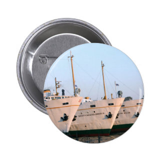 The bows of 3 ships in Istanbul Pinback Button