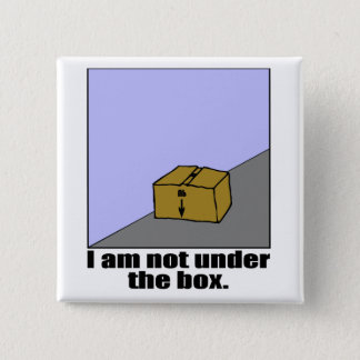 The Box 15 Cm Square Badge