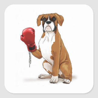 The Boxer Square Sticker