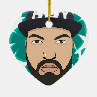 The boy christmas ornament
