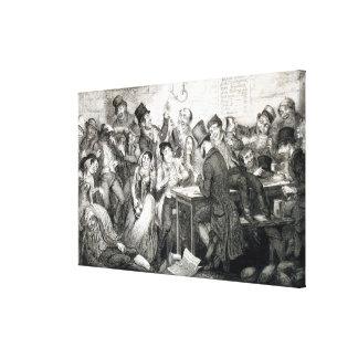 The Boy Gambles his Money, plate 2 of 'The Drunkar Canvas Print