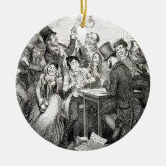 The Boy Gambles his Money, plate 2 of 'The Drunkar Christmas Ornament