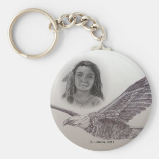 The Boy who flew with Eagles: Monochrome Key Chain