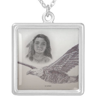 The Boy who flew with Eagles Monochrome Pendant