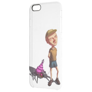 The boy with robot clear iPhone 6 plus case