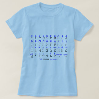 The Braille Alphabet. T-Shirt