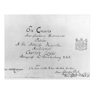 The Brandenburg Concertos, 1721 Postcard