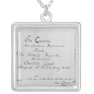 The Brandenburg Concertos, 1721 Silver Plated Necklace