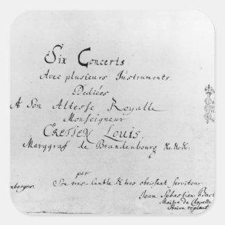 The Brandenburg Concertos, 1721 Square Sticker