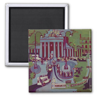 The Brandenburg Gate, Berlin, 1929 Square Magnet