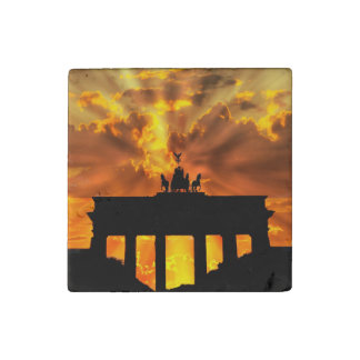 The Brandenburg Gate, Berlin Stone Magnet