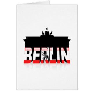 The Brandenburg Gate in Berlin Card