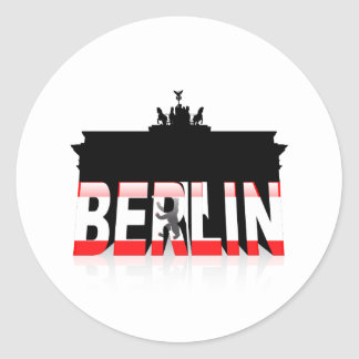 The Brandenburg Gate in Berlin Classic Round Sticker