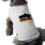 The Brandenburg Gate in Berlin (Germany) Pet Tshirt