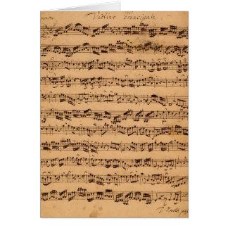 The Brandenburger Concertos, No.5 D-Dur, 1721 Card