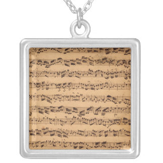 The Brandenburger Concertos, No.5 D-Dur, 1721 Silver Plated Necklace