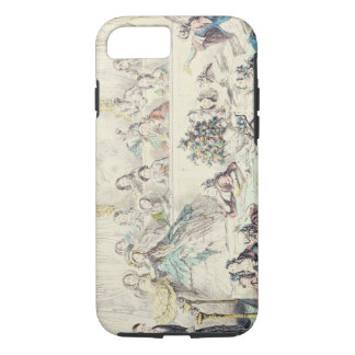 The Breach of Promise - cartoon hand coloured etch iPhone 8/7 Case