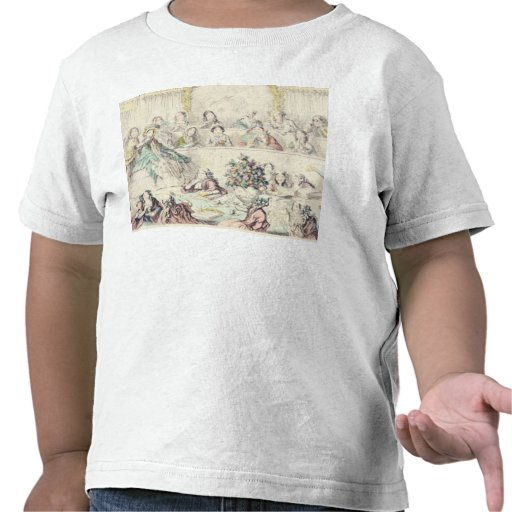 The Breach of Promise - cartoon hand coloured etch T-shirts