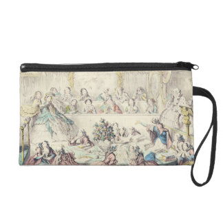 The Breach of Promise - cartoon hand coloured etch Wristlet Clutch