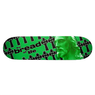 The Bread of Life Green with Jesus Custom Skate Board