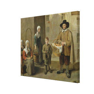 The Bread Seller and Water Carriers Gallery Wrap Canvas