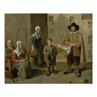 The Bread Seller and Water Carriers Poster