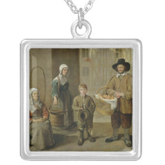 The Bread Seller and Water Carriers Silver Plated Necklace