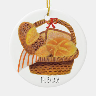 The Breads Round Ceramic Decoration