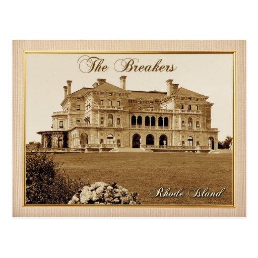 The Breakers Mansion in Newport, Rhode Island Post Card