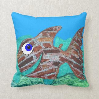 The Brick Fish Throw Pillow