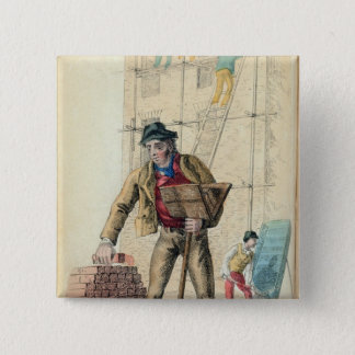 The Bricklayer's Labourer 15 Cm Square Badge