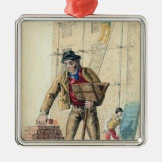 The Bricklayer's Labourer Silver-Colored Square Decoration