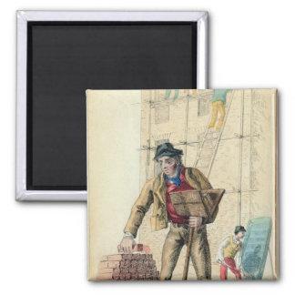 The Bricklayer's Labourer Square Magnet