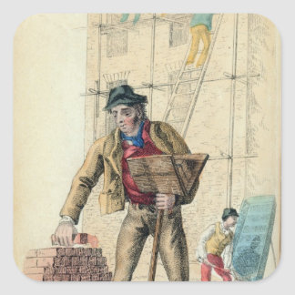 The Bricklayer's Labourer Square Stickers